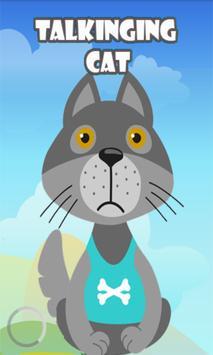 Talking small cat poster