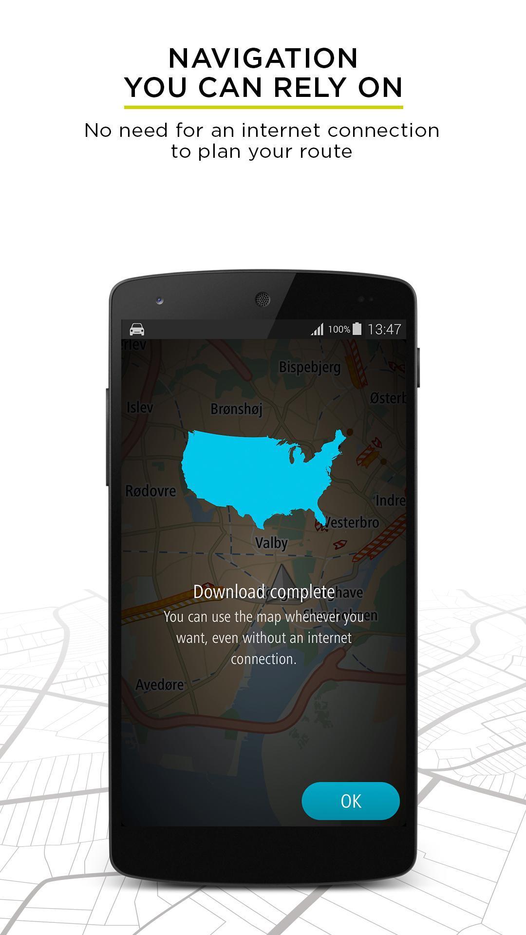 TomTom GPS Navigation - Live Traffic Alerts & Maps for Android - APK on