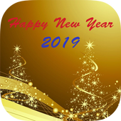New Year 2019 SMS icon