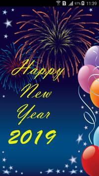 New Year 2019 SMS poster