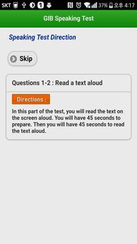 GIB Speaking Test screenshot 4