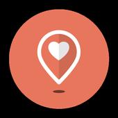 Lava - location dating app icon