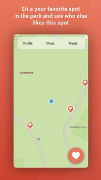 Lava - location dating app poster