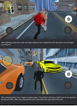 Man Fighting in middle of town apk screenshot