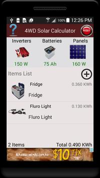 4WD Solar Calculator poster
