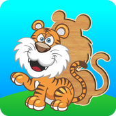Cute puzzles - game for kids + icon