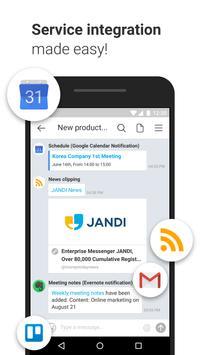 JANDI - Collaboration at Work apk screenshot