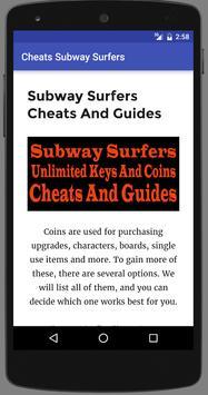Cheats Subway Surfers Coins apk screenshot