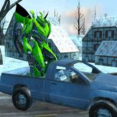 Flying Car Robot Wars:Car Transformation Game 2018 icon