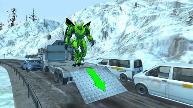 Flying Car Robot Wars:Car Transformation Game 2018 screenshot 7