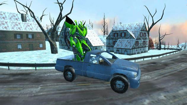 Flying Car Robot Wars:Car Transformation Game 2018 screenshot 9