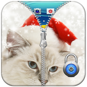 Cat Zipper Lock Screen Free icon