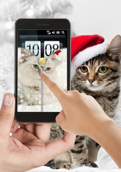 Cat Zipper Lock Screen Free apk screenshot