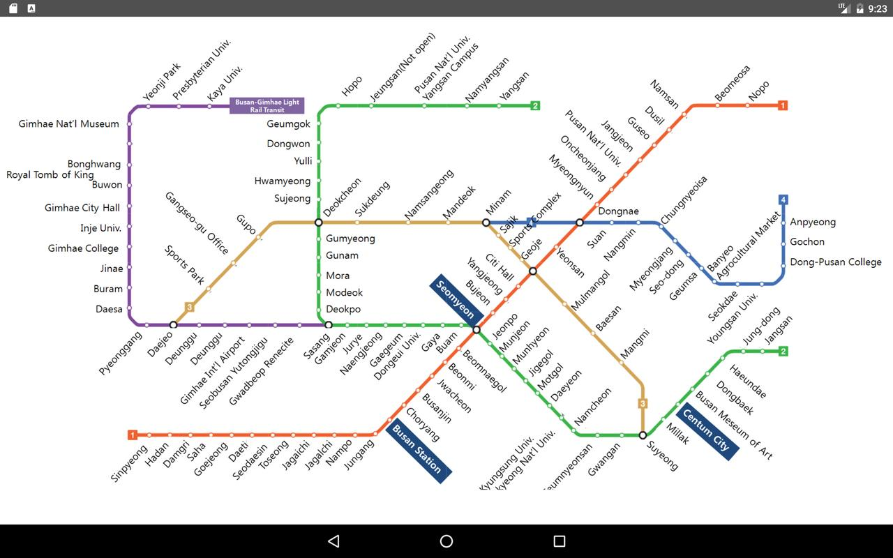 Busan Metro Map 2017 For Android Apk Download