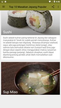Top 10 Masakan Jepang Terpopuler screenshot 1