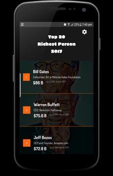 Top 20 Richest Person 2017 screenshot 1