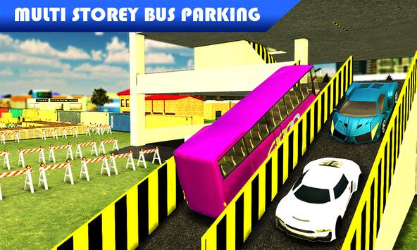 Multi storey bus parking sim apk screenshot