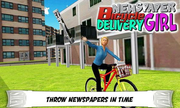 Newspaper Cycle Delivery Girl poster