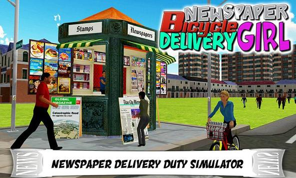 Newspaper Cycle Delivery Girl apk screenshot