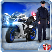 Offroad Police Bike Driving icon