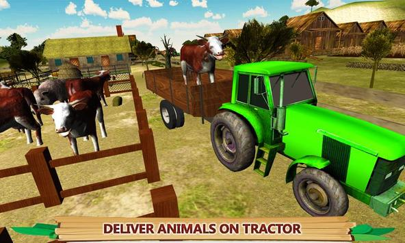 Village Tractor Driving Sim poster