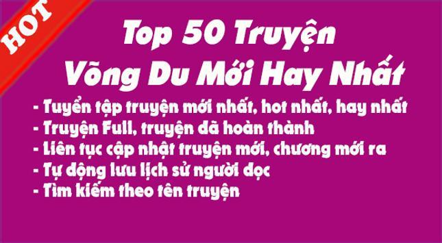 Top 50 Truyện Võng Du Full Hay Nhất screenshot 1