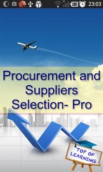 Supplier Selection & Tendering poster