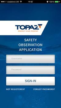 Topaz Marine Observation App poster