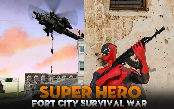 Super Hero Fort City Survival War poster