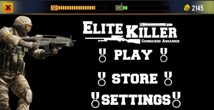 Elite Killer – Assassin FPS 3D poster