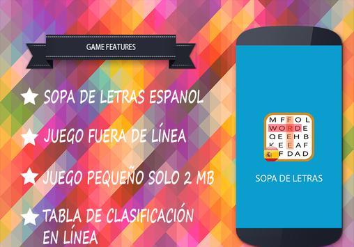 Sopa de Letras Español apk screenshot