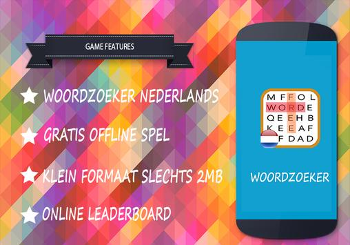 Woordzoeker nederlands gratis poster