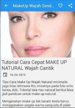 Cara MakeUp Wajah Cantik Alami screenshot 4