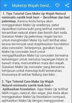 Cara MakeUp Wajah Cantik Alami screenshot 5