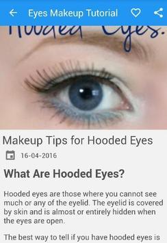 Eyes MakeUp Tutorial New screenshot 1