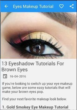 Eyes MakeUp Tutorial New screenshot 3