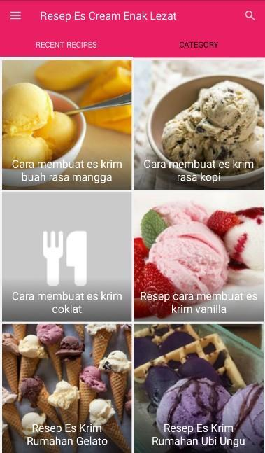 Resep Es Cream Enak Lezat For Android Apk Download
