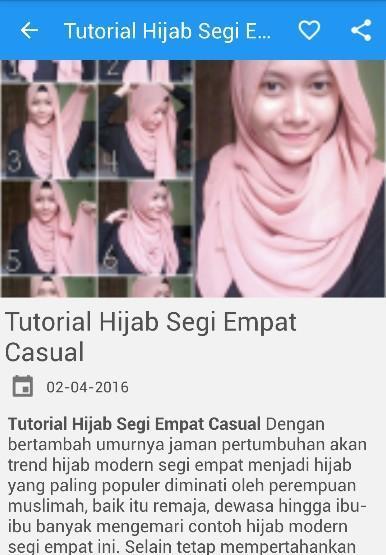 Tutorial Hijab Segi Empat For Android Apk Download