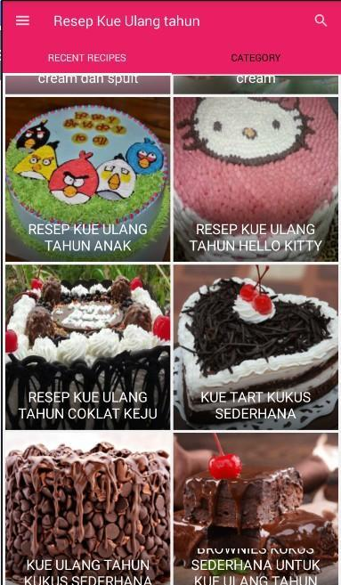 Aneka Resep Kue Ulang Tahun For Android Apk Download