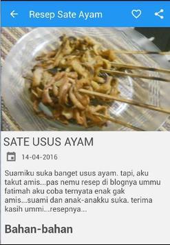Resep Sate Ayam screenshot 4