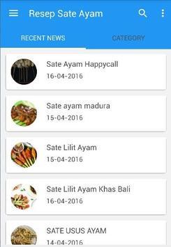 Resep Sate Ayam poster