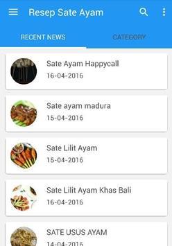 Resep Sate Ayam screenshot 1