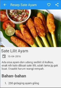 Resep Sate Ayam screenshot 3