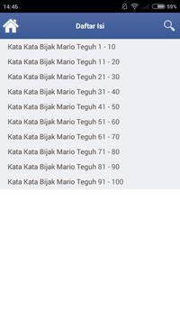 Kata Motivasi Mario Teguh apk screenshot