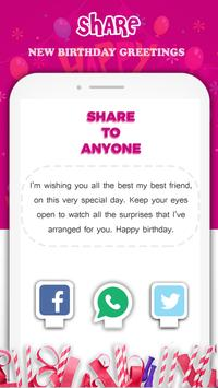 Birthday Greetings Messages apk screenshot