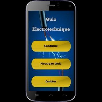 Quiz Électrotechnique poster