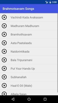 Brahmotsavam Songs 2016 apk screenshot
