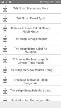 Belajar Trik Sulap poster