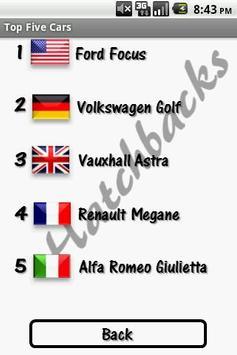 Top 5 Cars screenshot 1