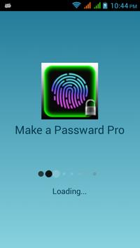 Make a Password Pro poster